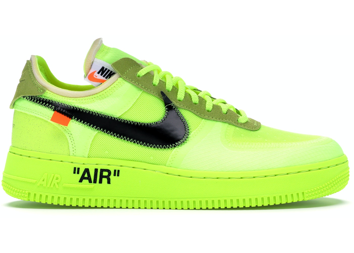 Cierto Previamente pureza  Nike Air Force 1 Low Off-White Volt - AO4606-700