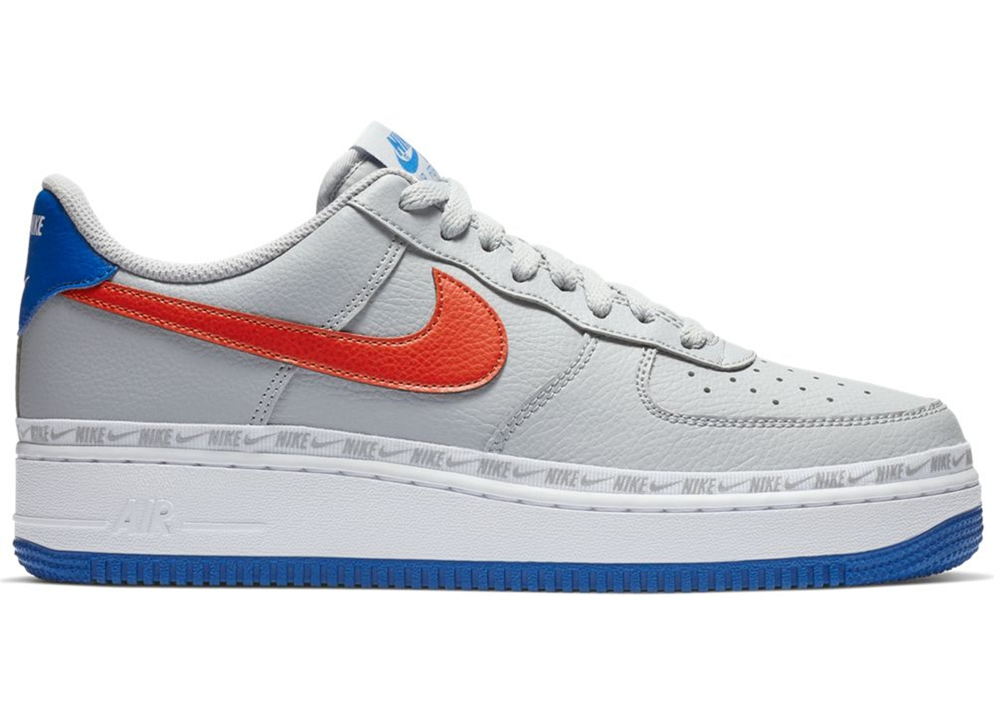 Air Force 1 Low Overbranding Grey Blue Red