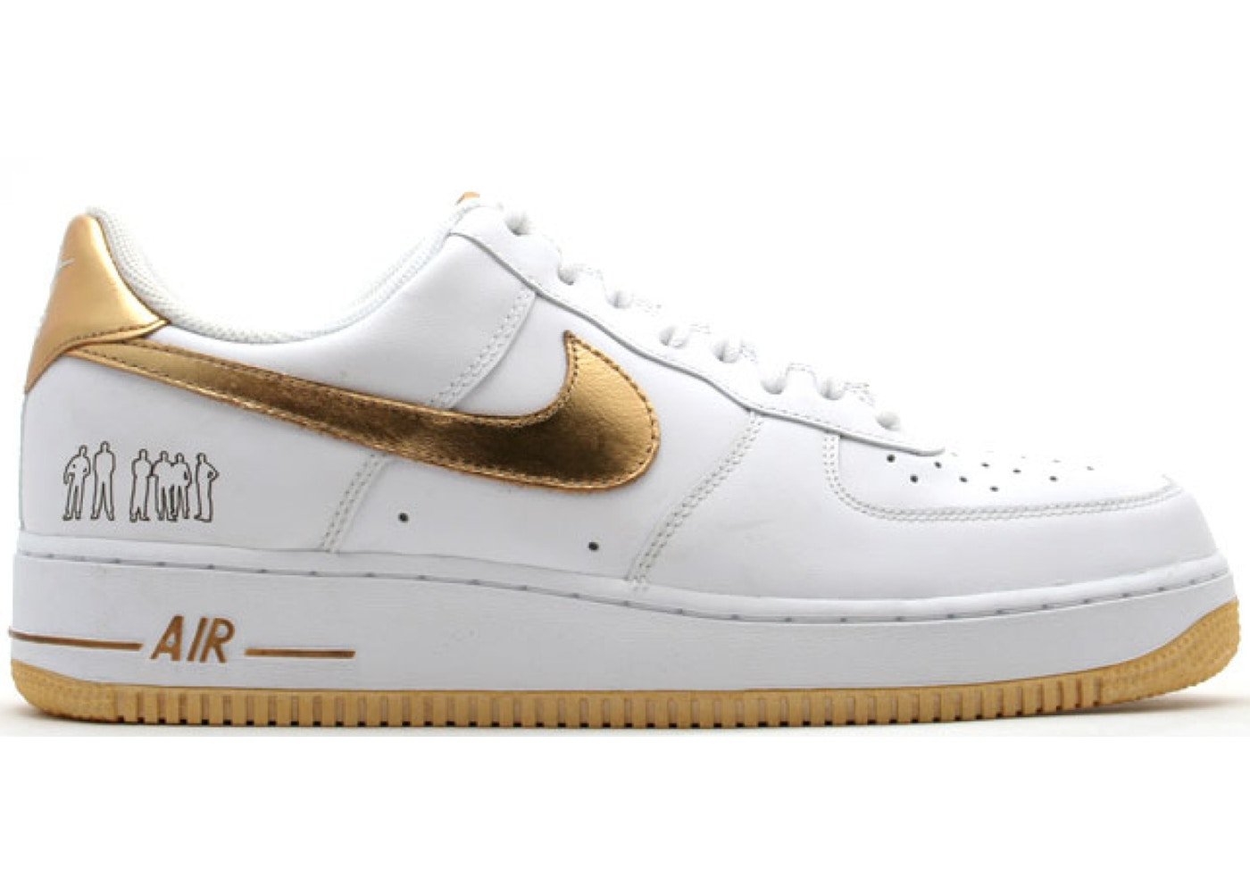 Air Force 1 Low Players White Metallic Gold