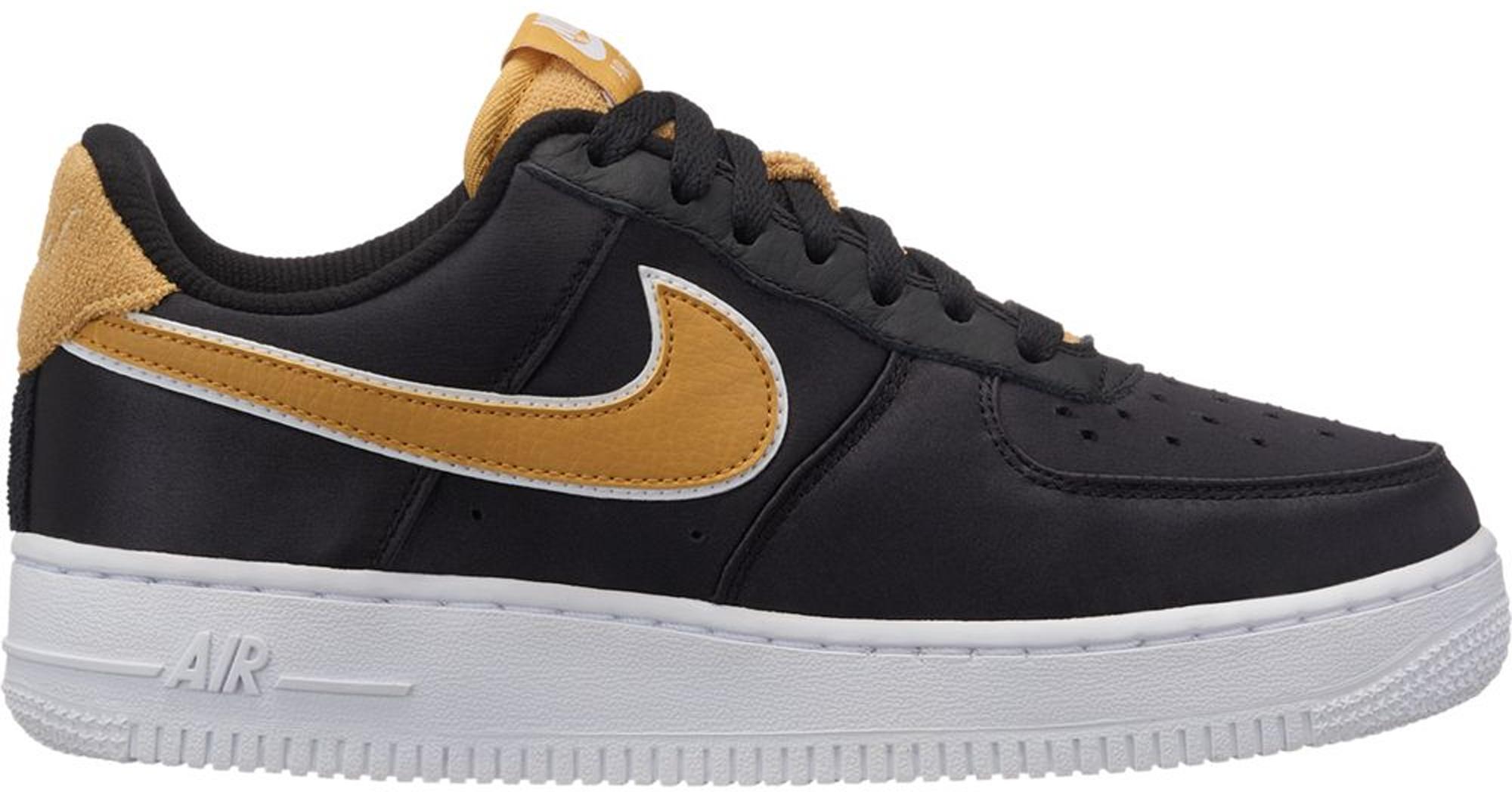 Nike Air Force 1 Low Satin Black Wheat