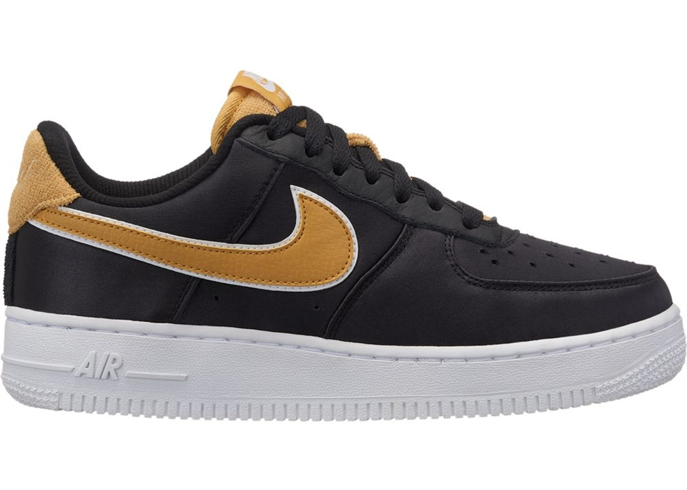 Air Force 1 Low Satin Black Wheat Gold (W) - AA0287-005 082c47fb0
