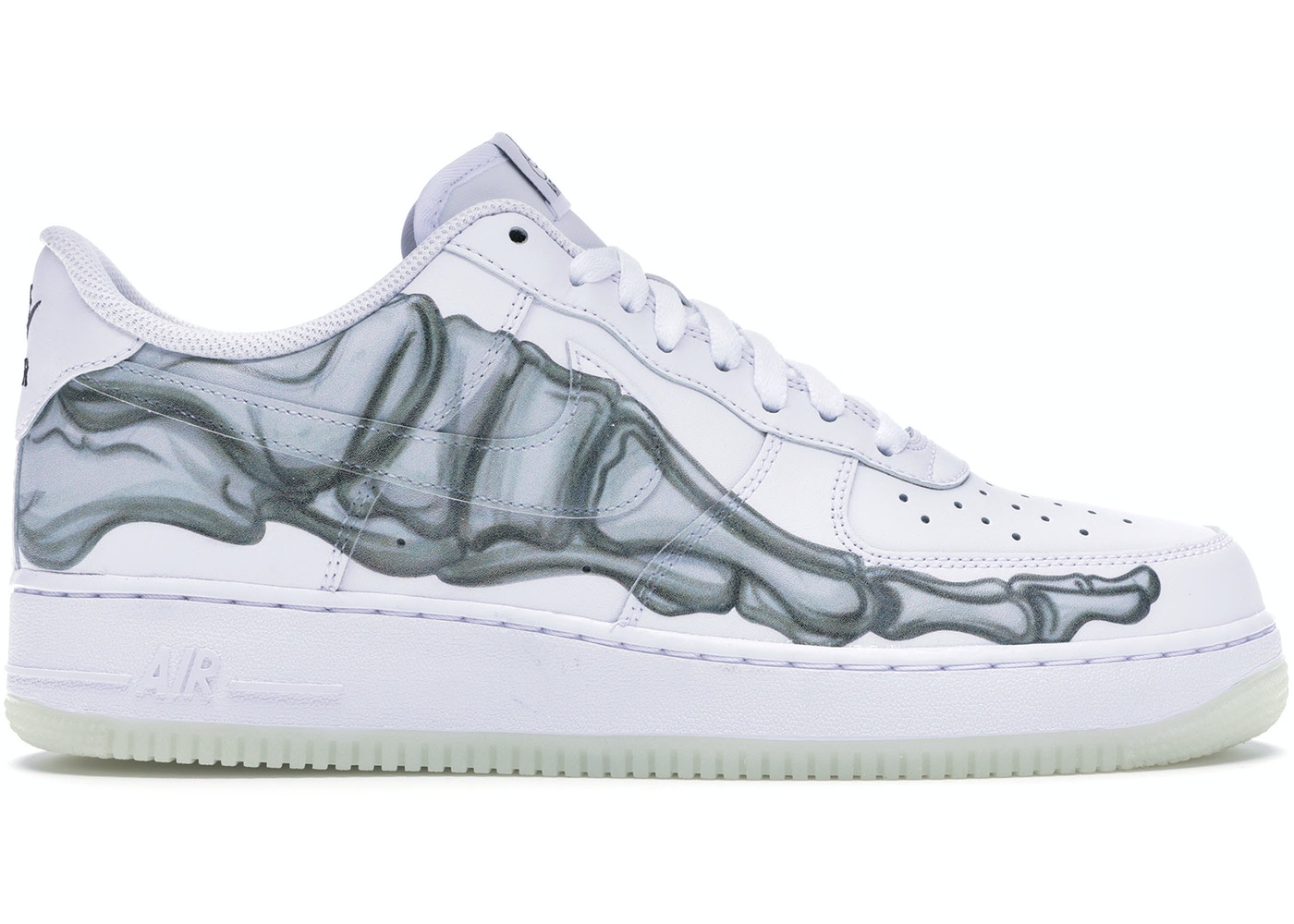 dignidad Transitorio Ya  Nike Air Force 1 Low Skeleton Halloween (2018) - BQ7541-100