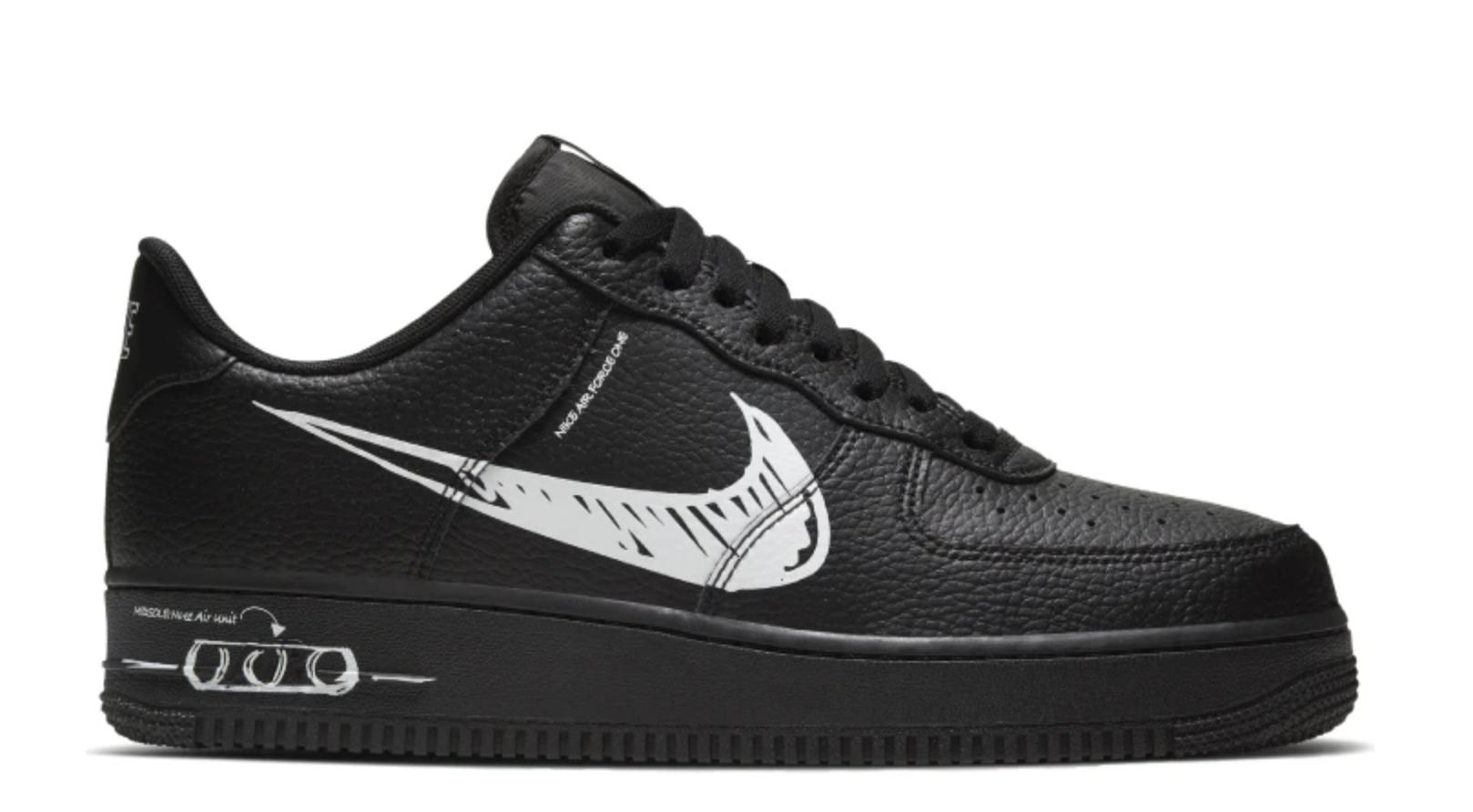 Nike Air Force 1 Low Sketch Black