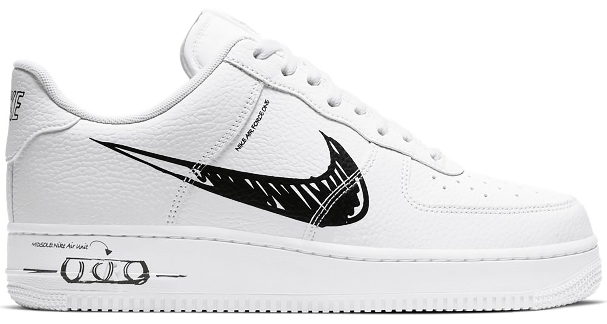 Nike Air Force 1 Low Sketch White Black