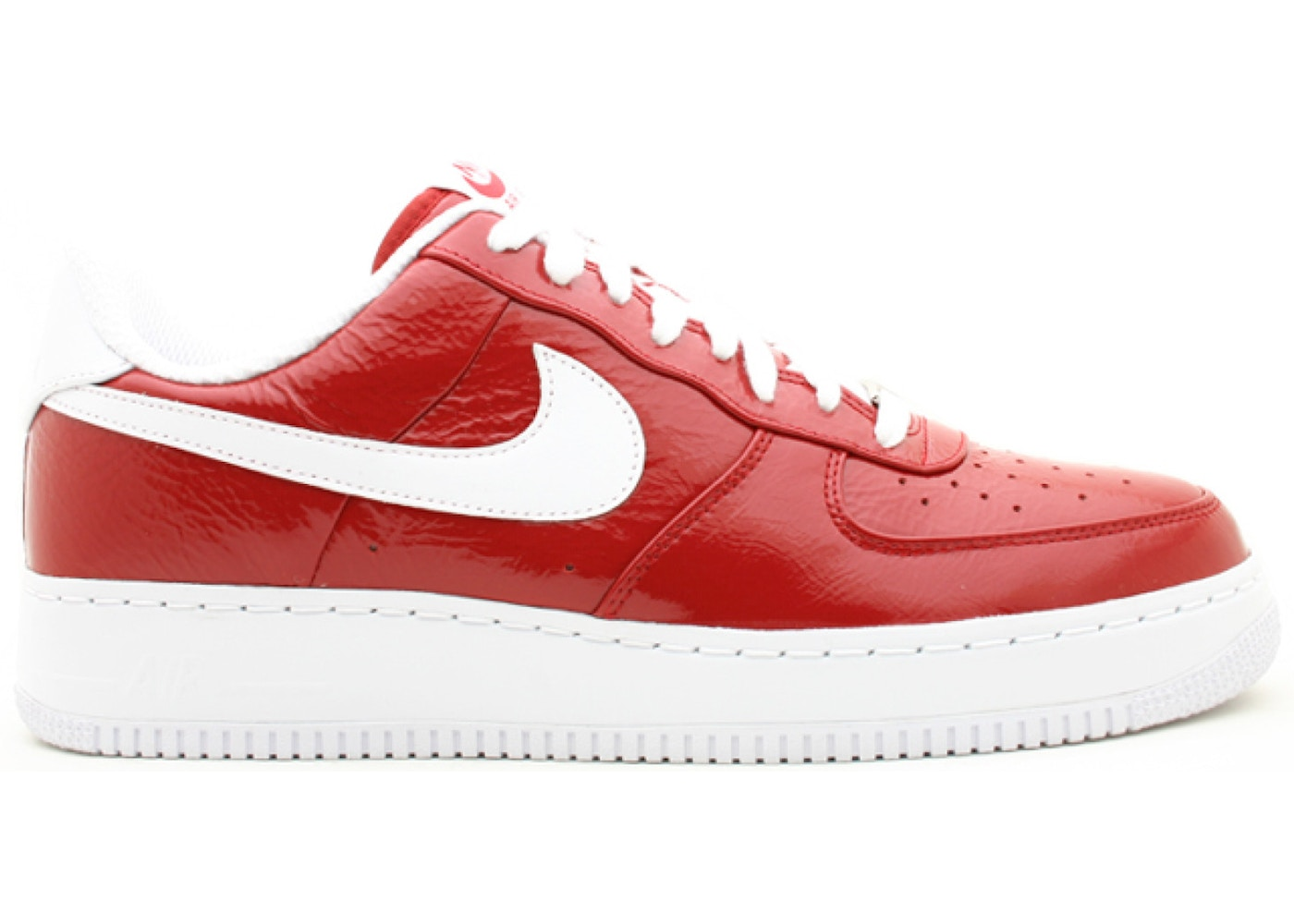 nike air force 1 bianco rosso