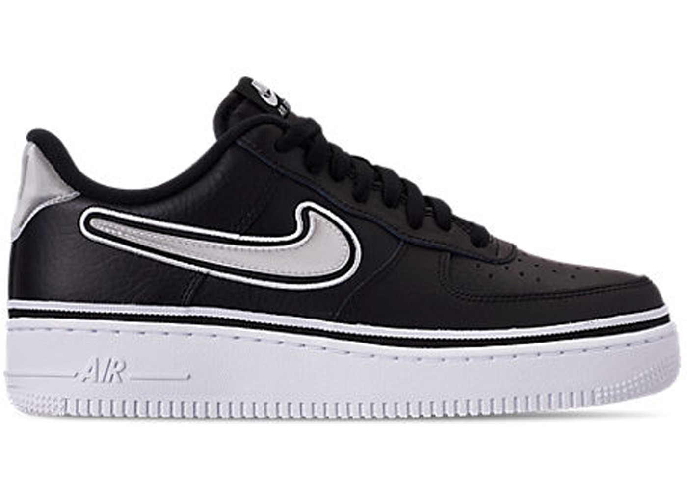 new style 59441 e74b6 Air Force 1 Low Sport NBA Black White