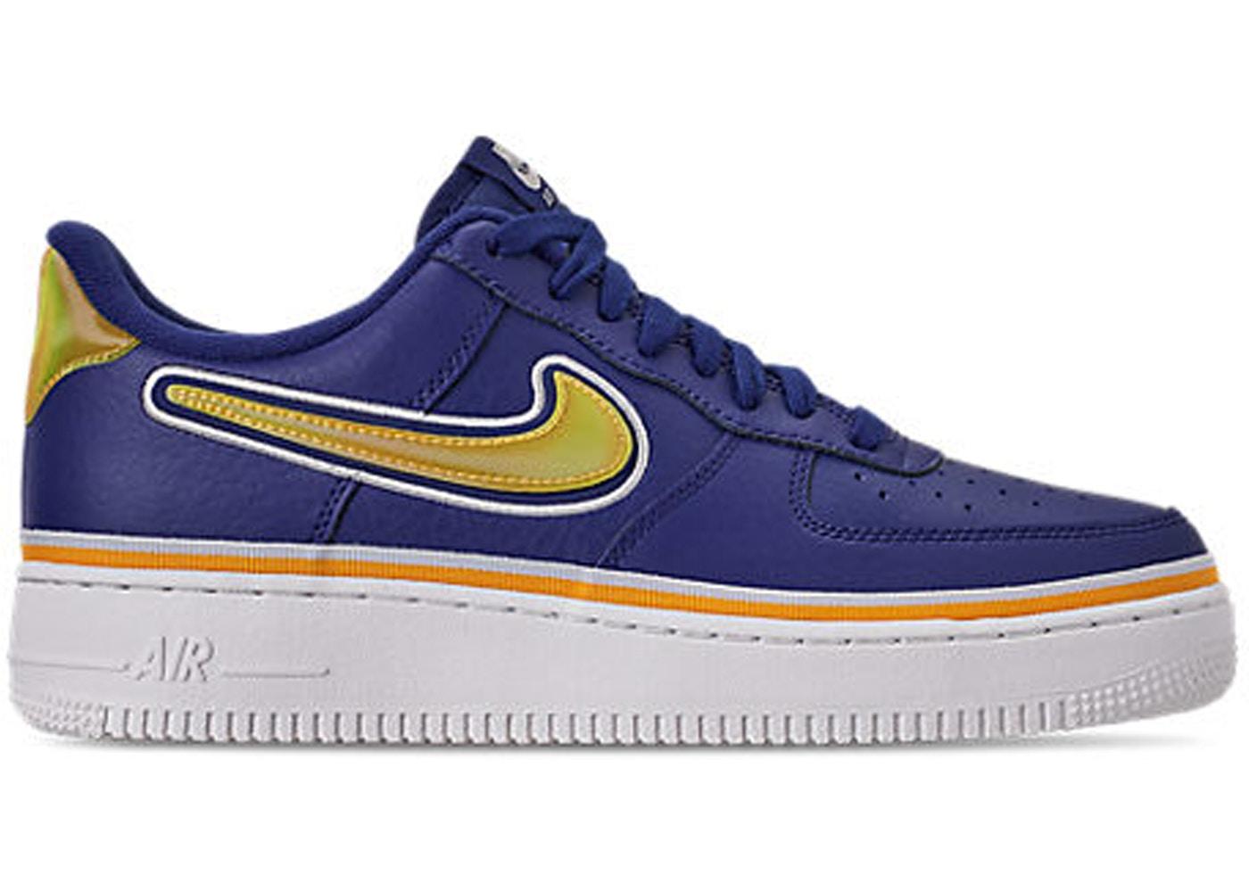 sports shoes 92c77 97320 Air Force 1 Low Sport NBA Deep Royal University Gold - AJ7748-400