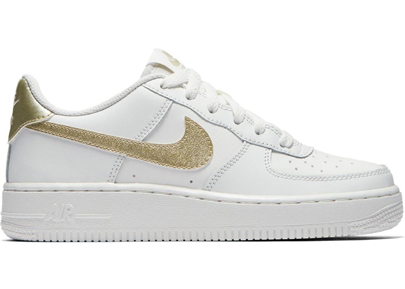 air force 1 white metallic gold