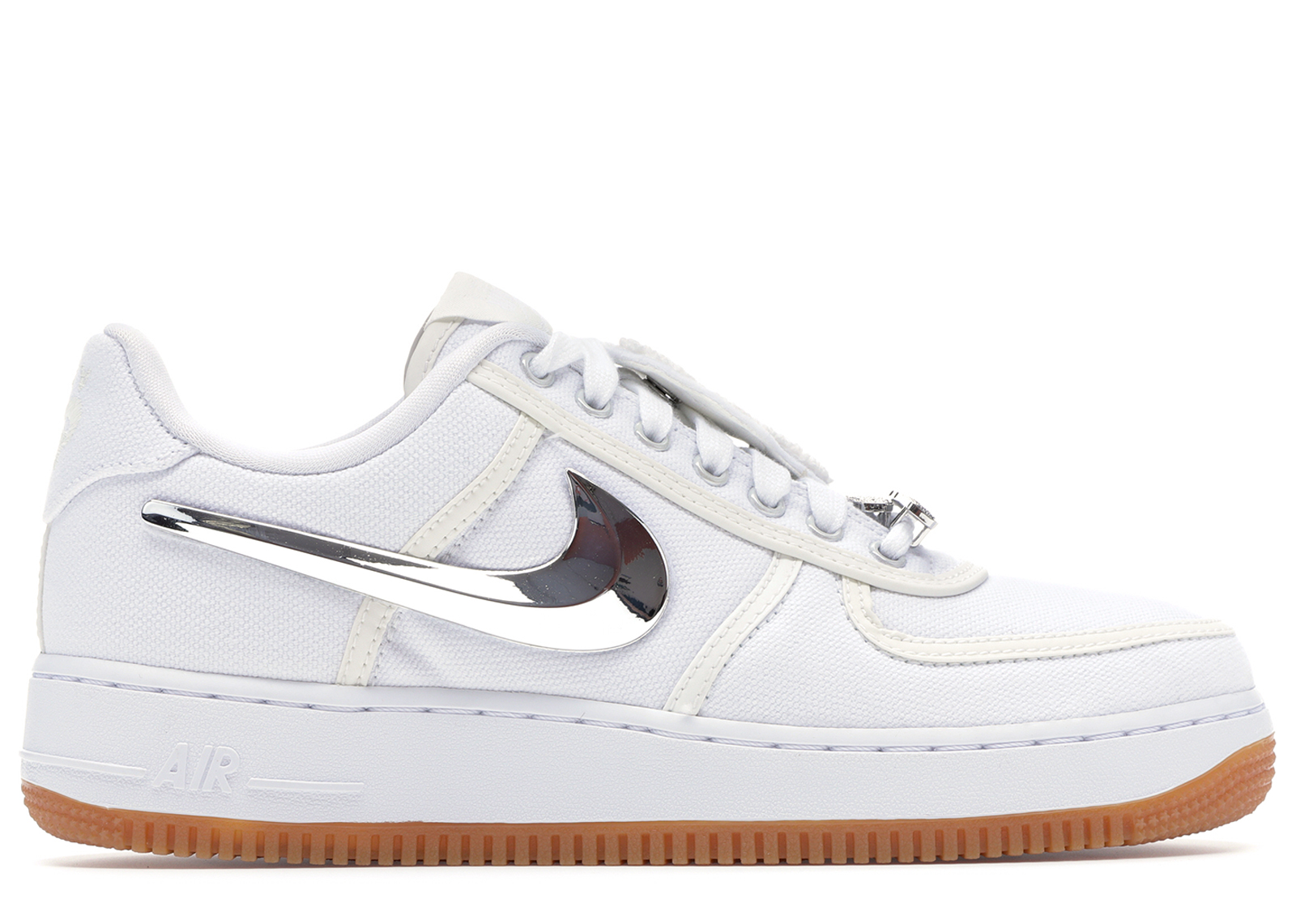 Travis Scott x Nike Air Force 1 Low Triple White For Sale