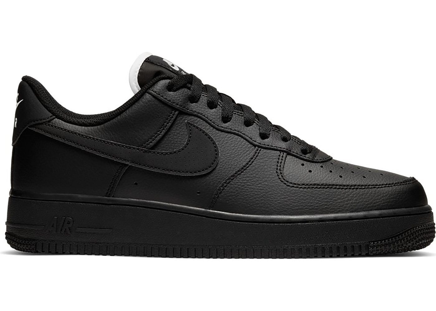 ropa interior construir Muy lejos  Nike Air Force 1 Low Triple Black (White Tongue) - CJ1607-001