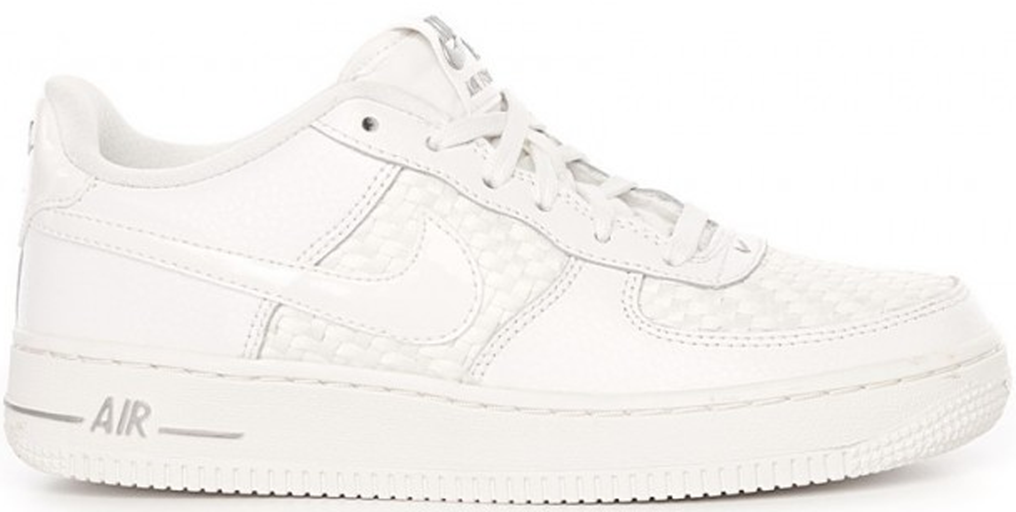 Nike Air Force 1 Low Triple White Leather Woven (GS