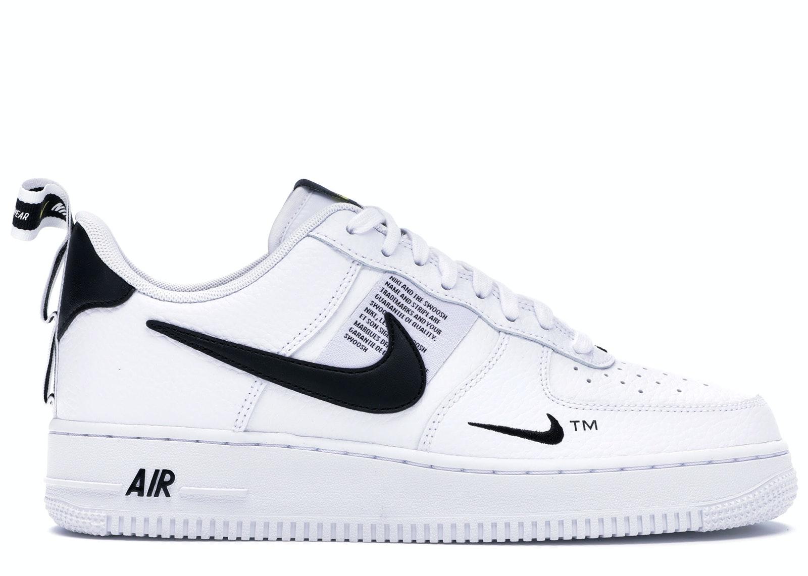Air Force 1 Low Utility White Black - AJ7