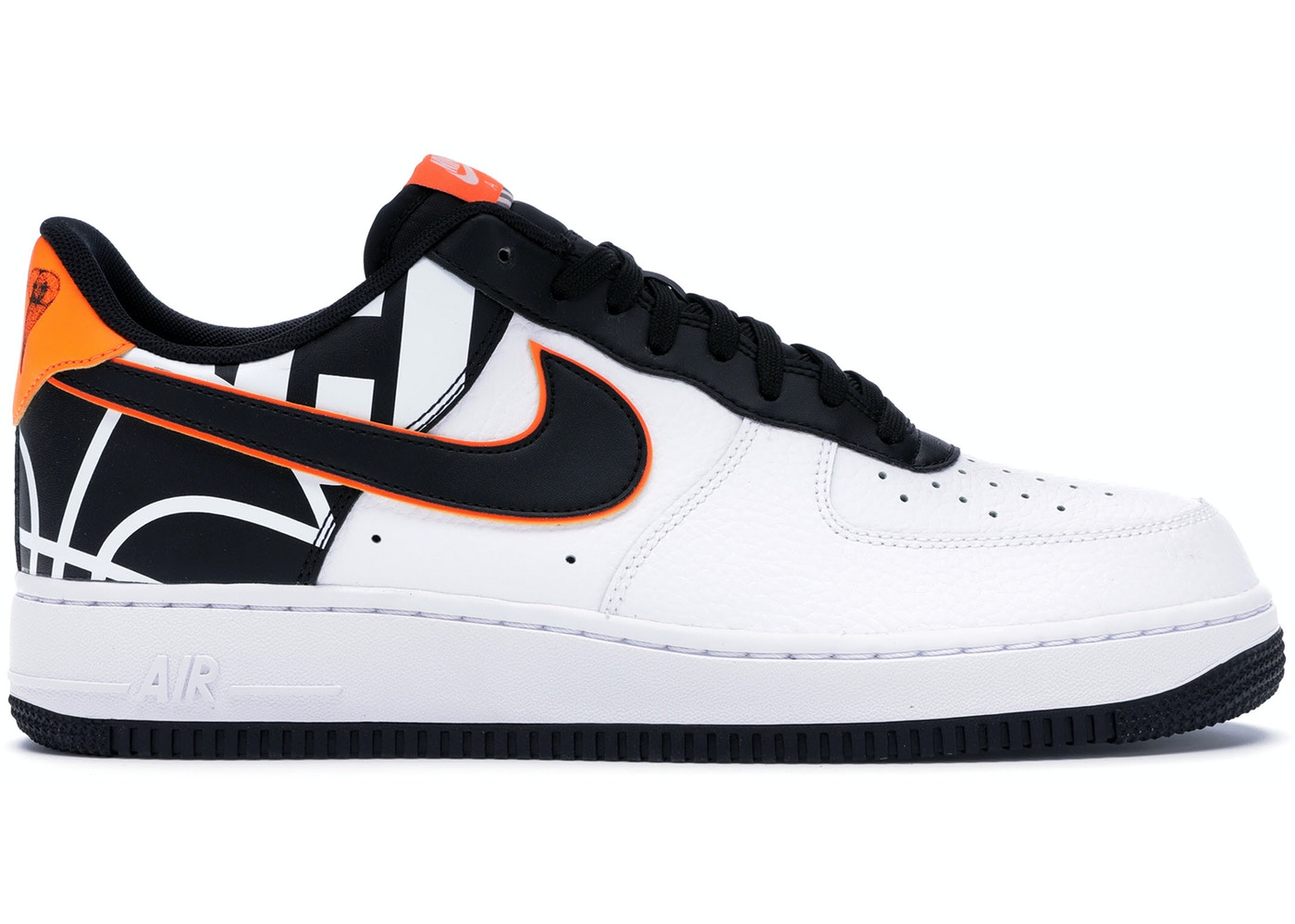 best website 87bb5 e3f50 Air Force 1 Low White Black Orange - 823511-104