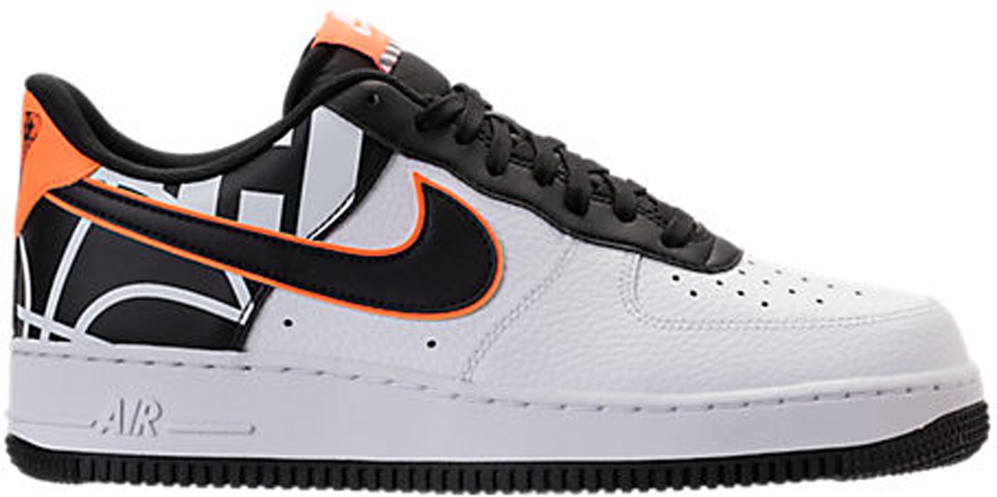 orange nike air force 1