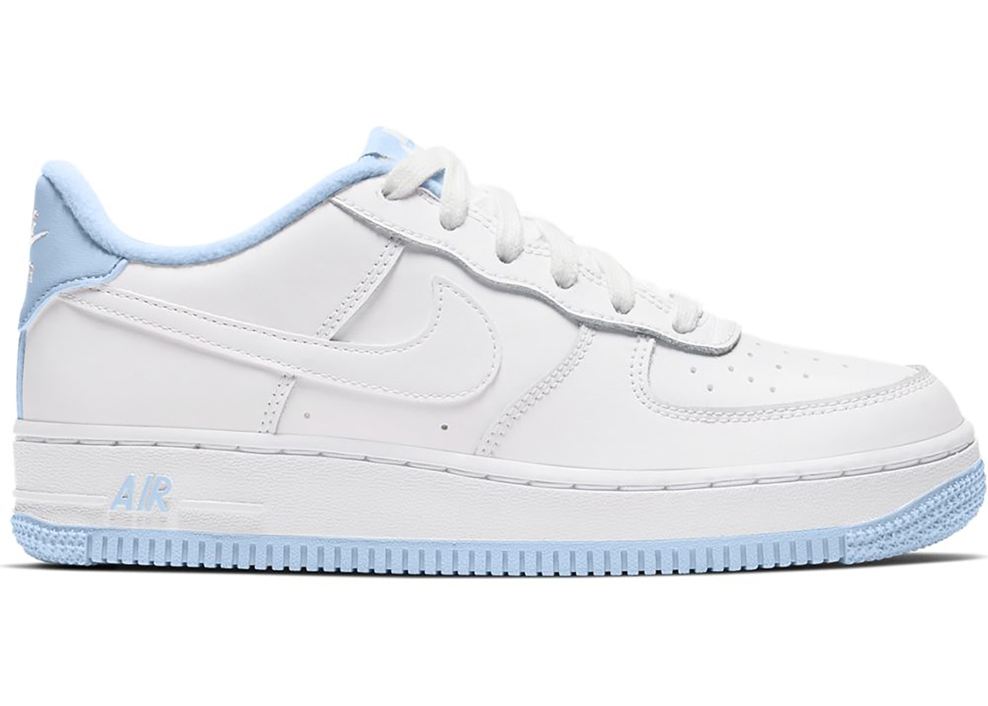 Nike Air Force 1 Low GS Nike Air Force 1 Low White Hydrogen Blue (GS) - CD6915-103