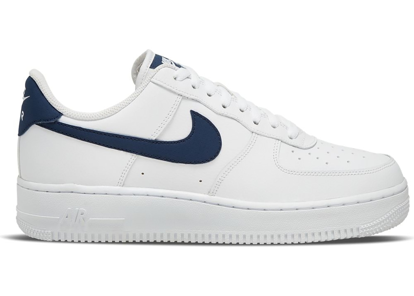 Nike Air Force 1 Low White Midnight Navy (2020) - CJ1607-100