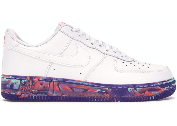 ac6bb28f99403 Air Force 1 Low White Multi-Color Marble - AJ9507-100