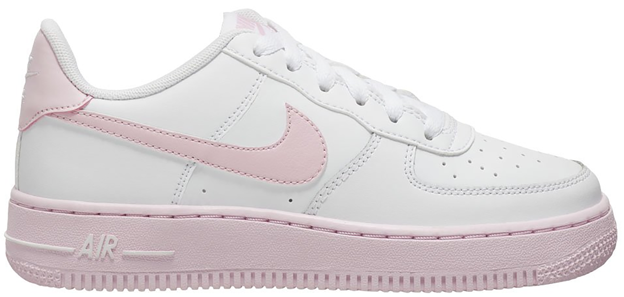 pink and white air force ones