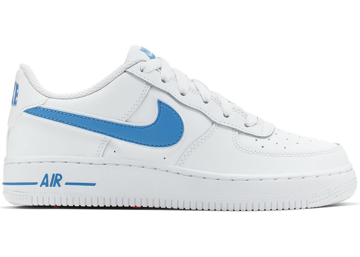 Nike Air Force 1 Low White University Blue Gs Av6252 102