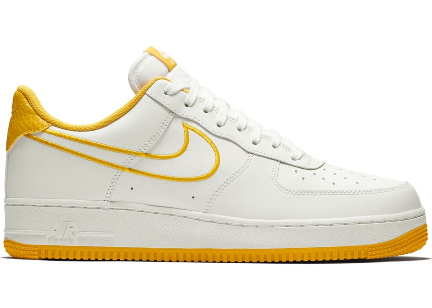 Viajero Álbum de graduación Capitán Brie  Nike Air Force 1 Low White Yellow Ochre - AJ7280-101