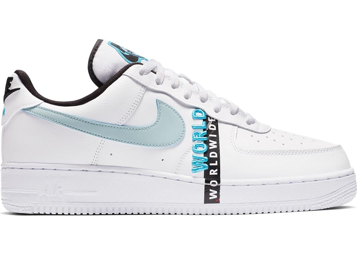 Nike Air Force 1 Low Worldwide White Blue Fury Ck6924 100