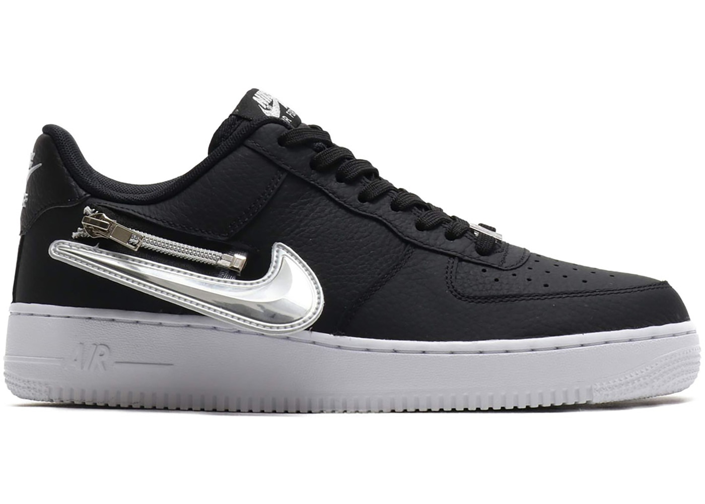 Nike Air Force 1 Low Zip Swoosh Black Cw6558 001