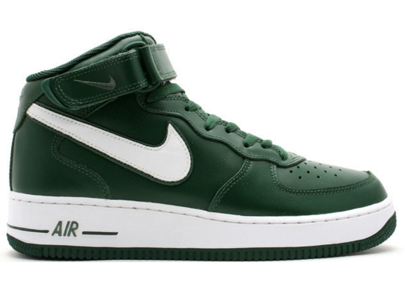 Nike Air Force 1 Mid Black Forest Green