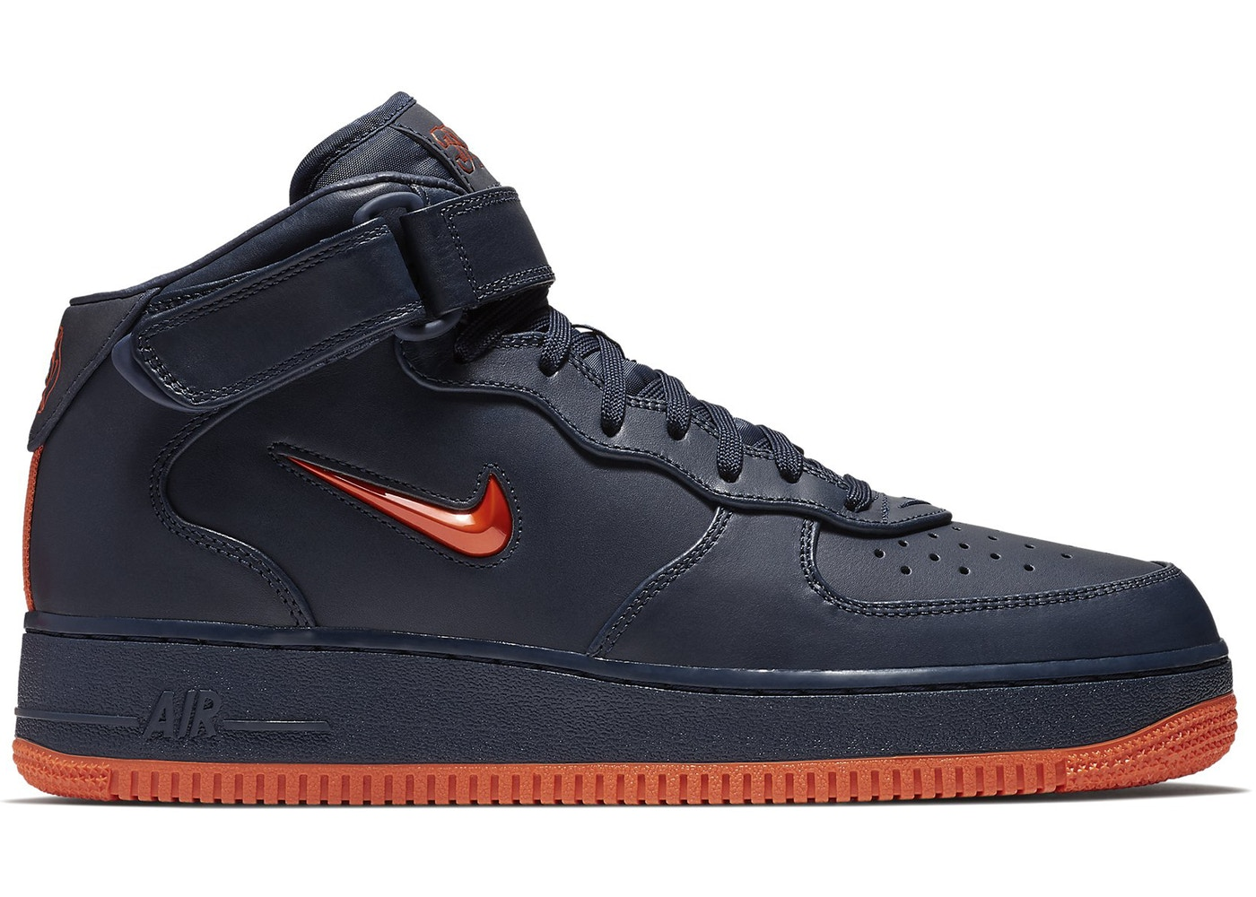Air Force 1 Mid NYC Obsidian Orange