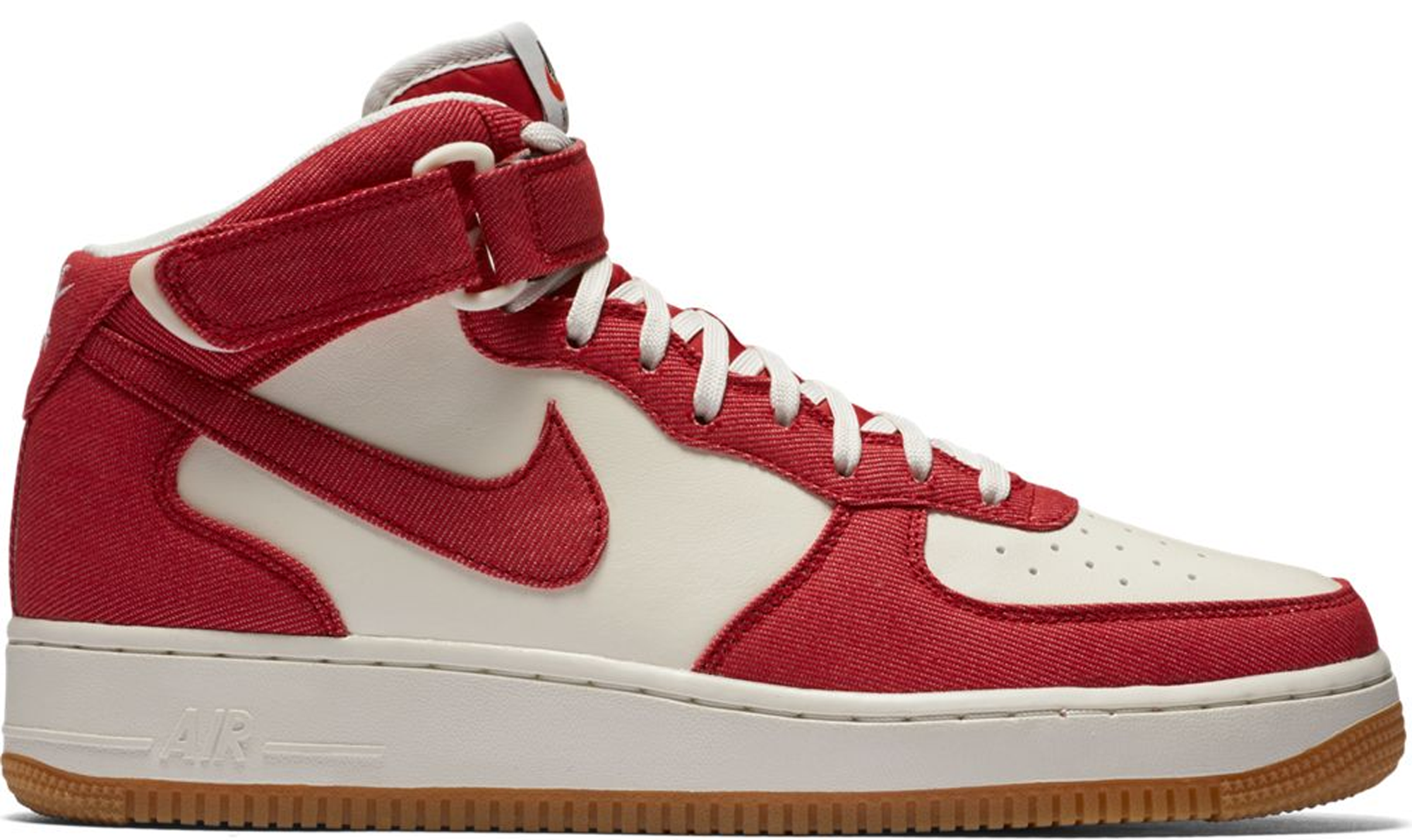 nike air force 1 mid red white