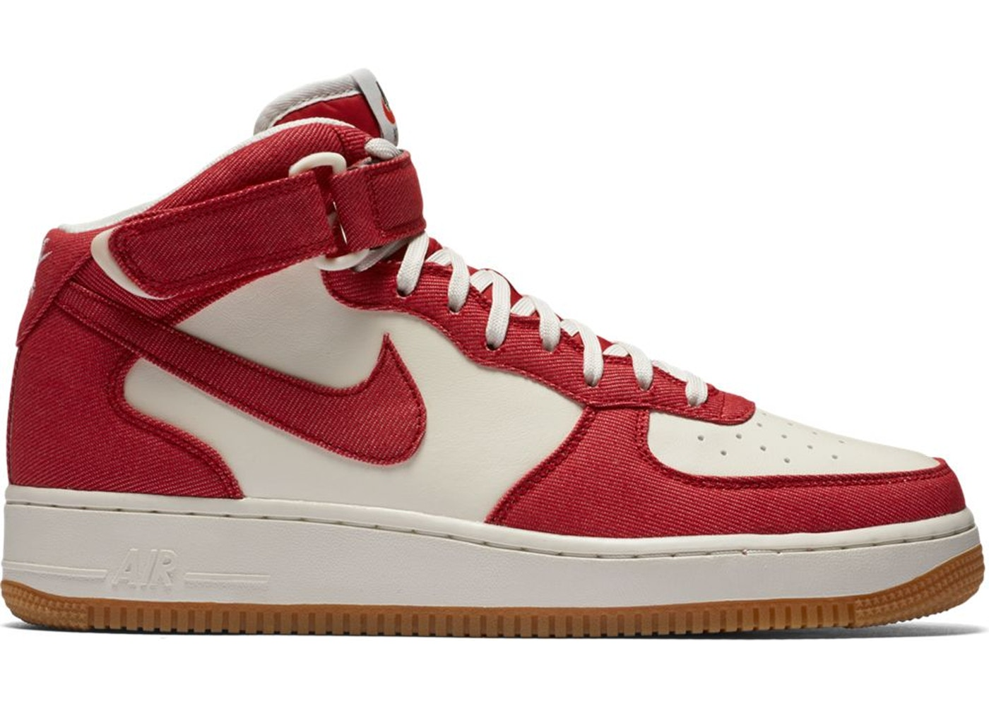 76a2f9c1 Sell. or Ask. Size --. View All Bids. Air Force 1 Mid Red Denim