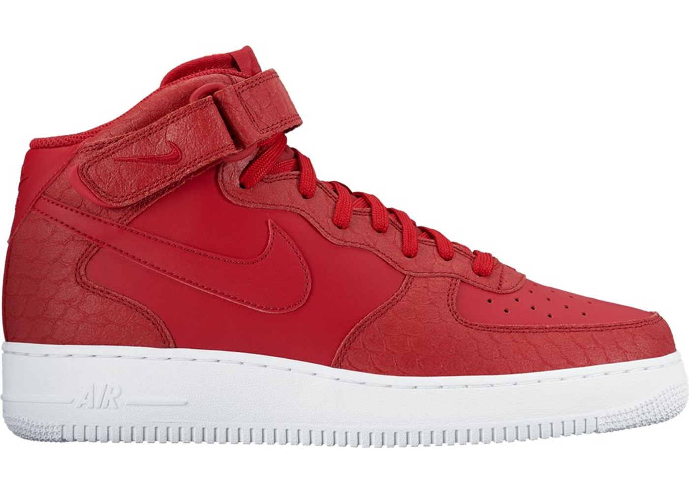 Air Force 1 Mid Red Python 804609 601