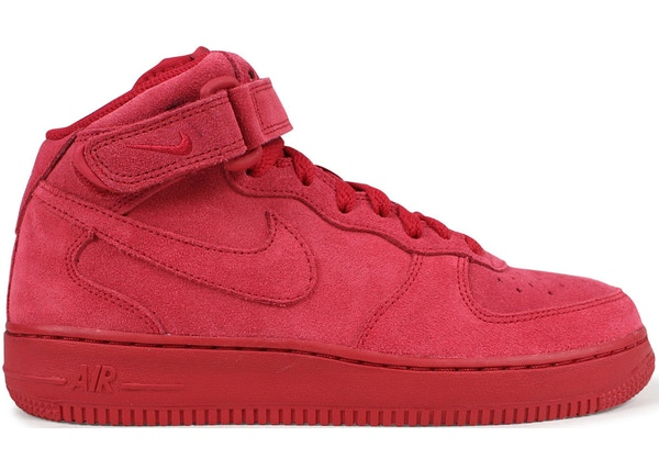 Air Force 1 Mid Red Suede (GS) - 314195-603