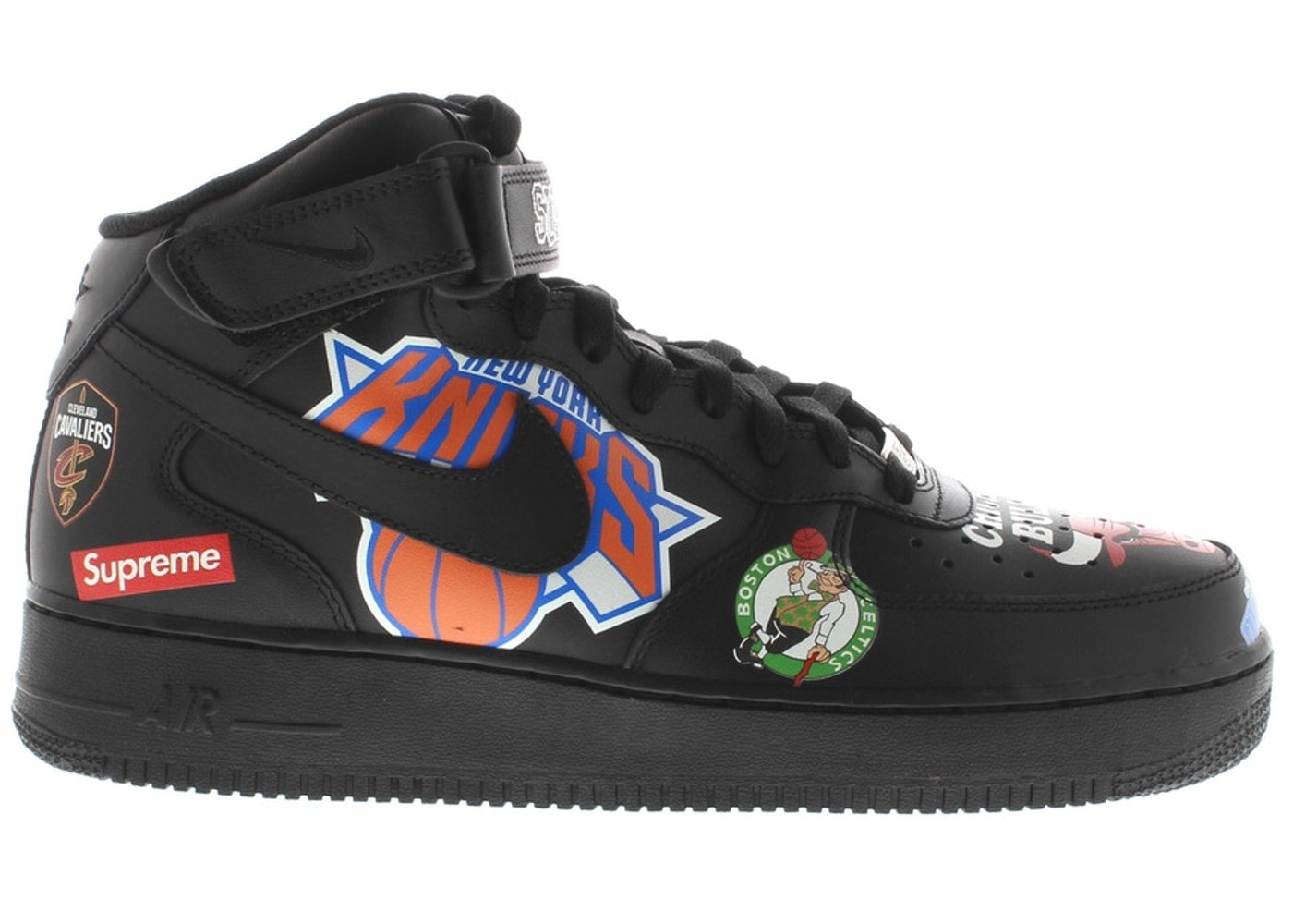 on sale b9ecd 596f3 Air Force 1 Mid Supreme NBA Black