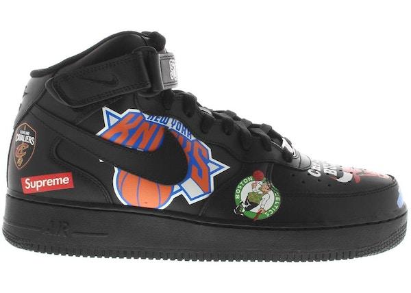 Air Force 1 Mid Supreme NBA Black