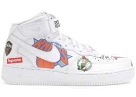 new concept 6a139 c84f1 Air Force 1 Mid Supreme NBA White - AQ8017-100