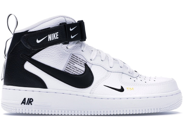 buy online f9904 fc001 Air Force 1 Mid Utility White Black
