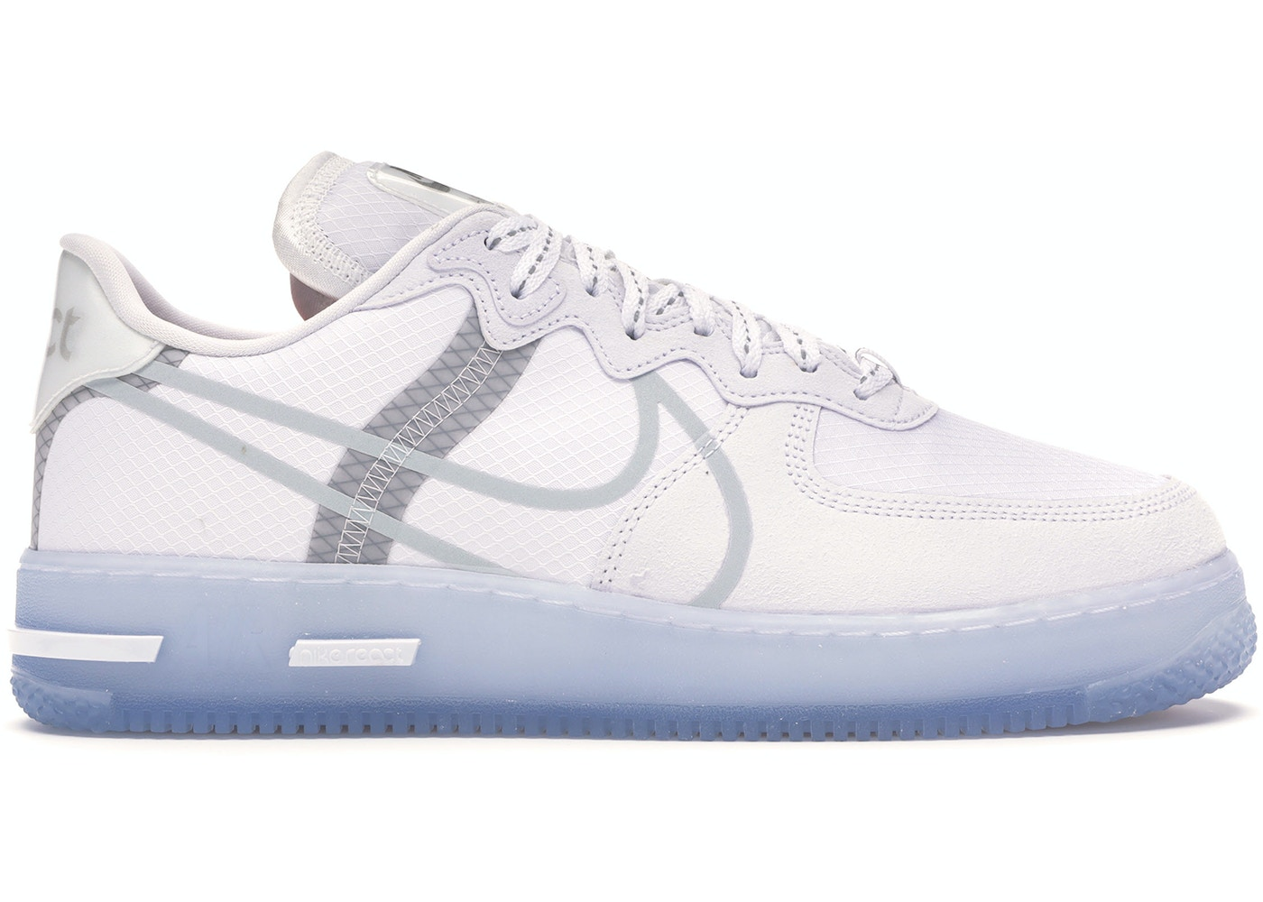 cumpleaños Denso Poder  Nike Air Force 1 React White Light Bone - CQ8879-100