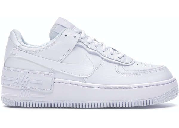 Nike Air Force 1 Shadow Triple White W Ci0919 100 Swarovski women's nike air force 1 all white low sneakers blinged out with authentic clear swarovski crystals custom bling nike shoes. nike