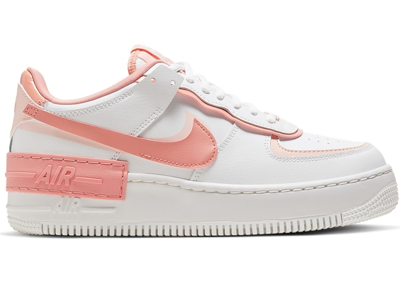 cabina Fortaleza cuero  Nike Air Force 1 Shadow White Coral Pink (W) - CJ1641-101