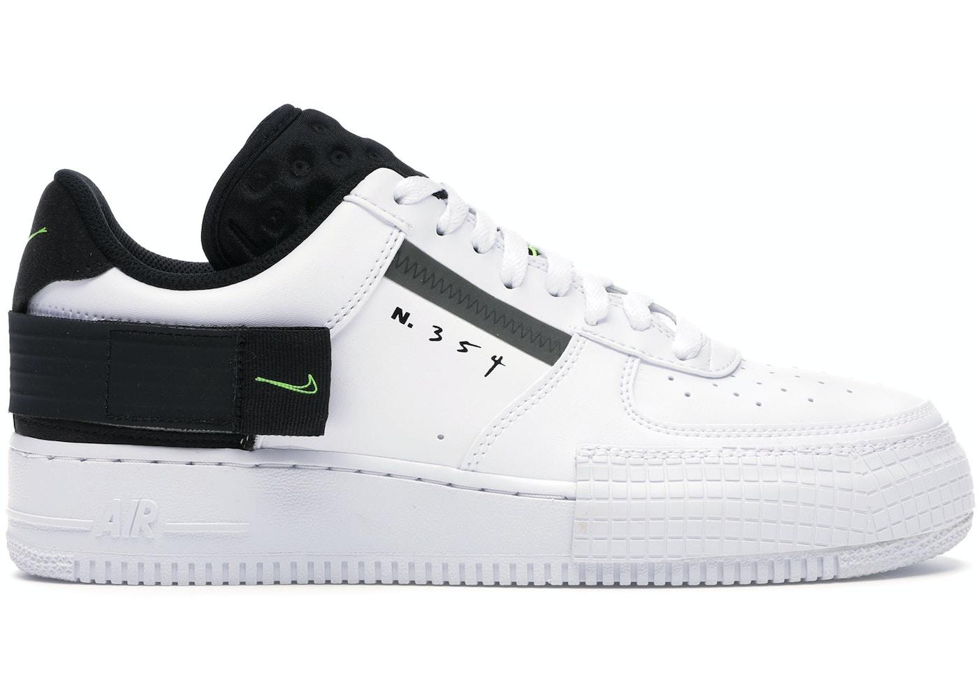 Risa divorcio fin de semana  Nike Air Force 1 Type White Black Volt - AT7859-101