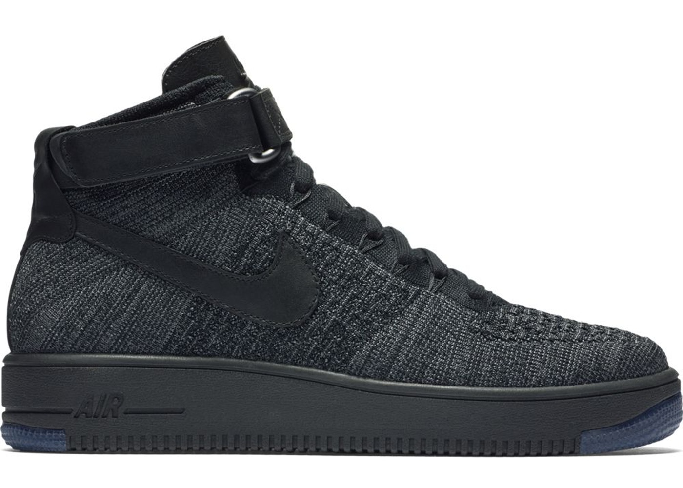 new product 06aa4 2ecbb Air Force 1 Ultra Flyknit Mid Dark Grey Black