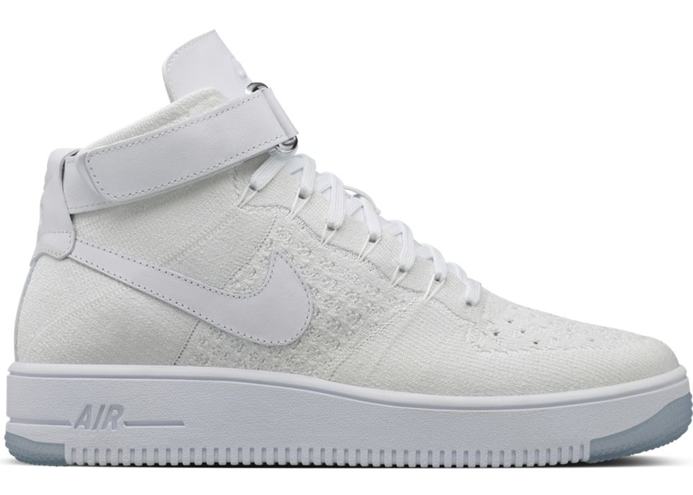 new arrival 909d8 bddf8 Air Force 1 Ultra Flyknit Mid Triple White
