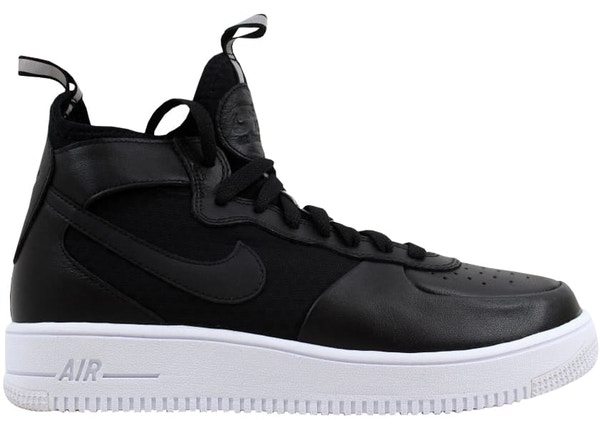 designer fashion 5d017 dfbd1 Nike Air Force 1 Ultraforce Mid Black/Black-White (W)