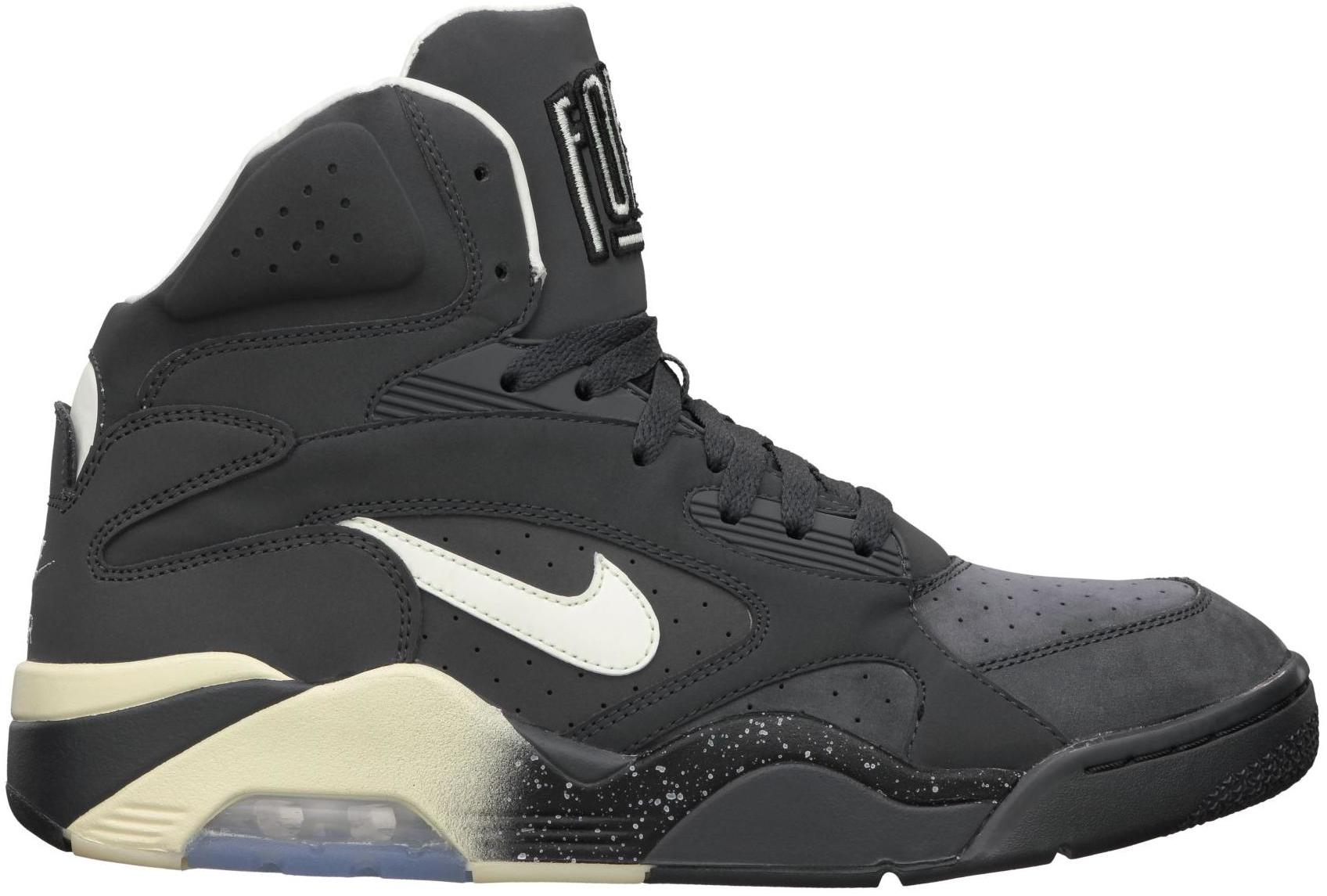 Nike Air Force 180 Glow In The Dark In Anthracite / Vibrant Yellow - Black