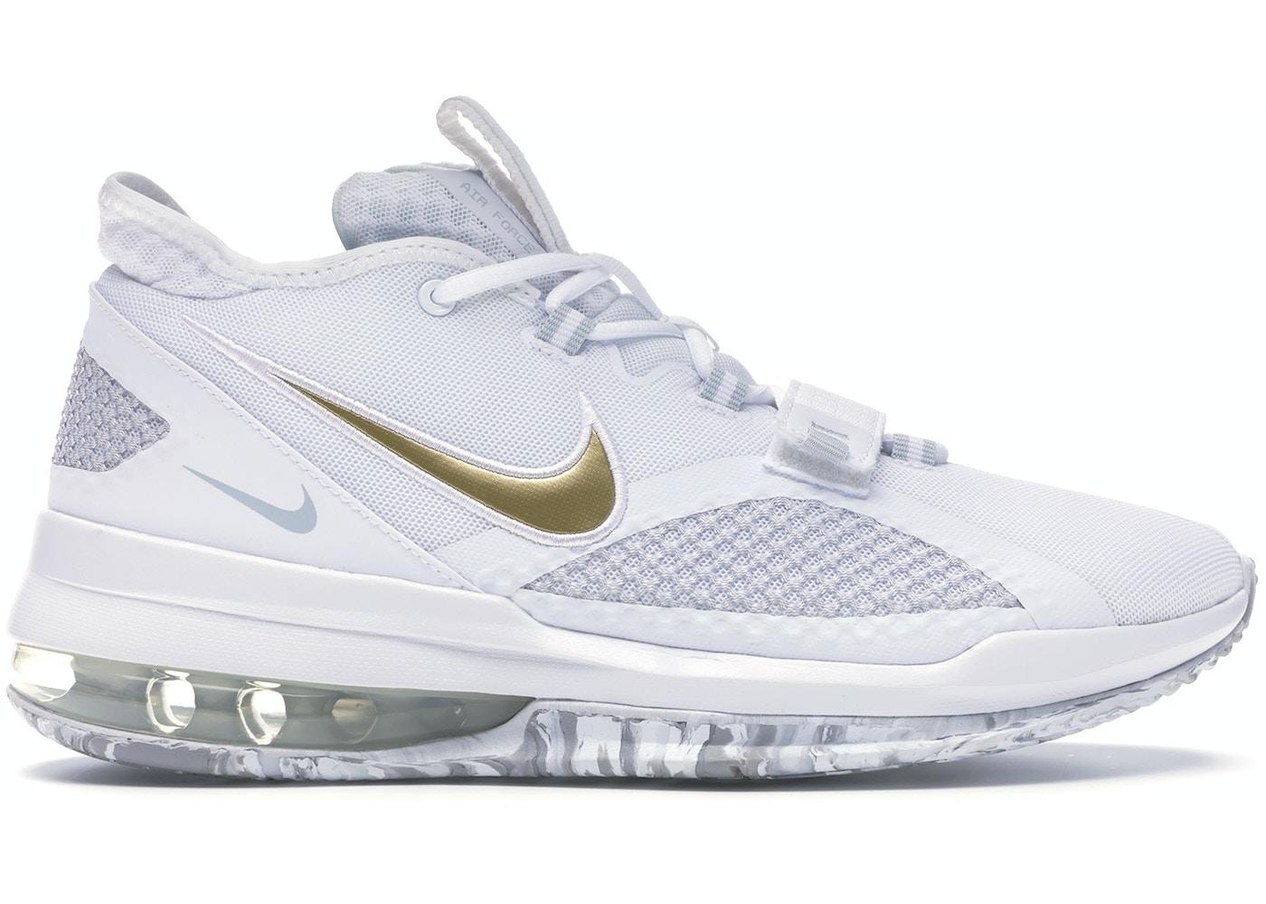 sí mismo difícil de complacer papelería  Nike Air Force Max Low White Gold - BV0651-100