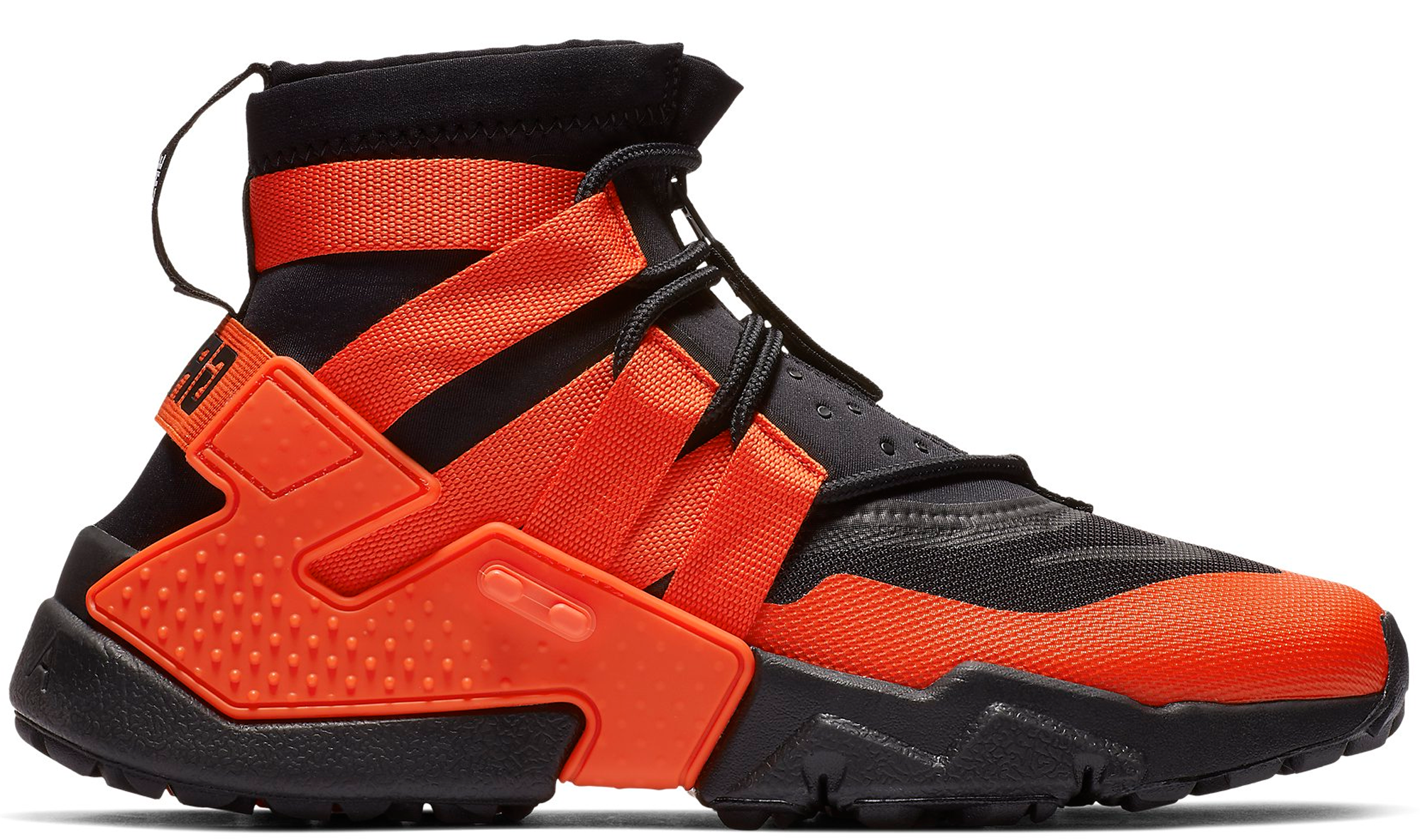 Nike Air Huarache Ultra Max Orange Wolf Grey Anthracite Black 819685 800 Mens Womens Running Shoes 819685 800