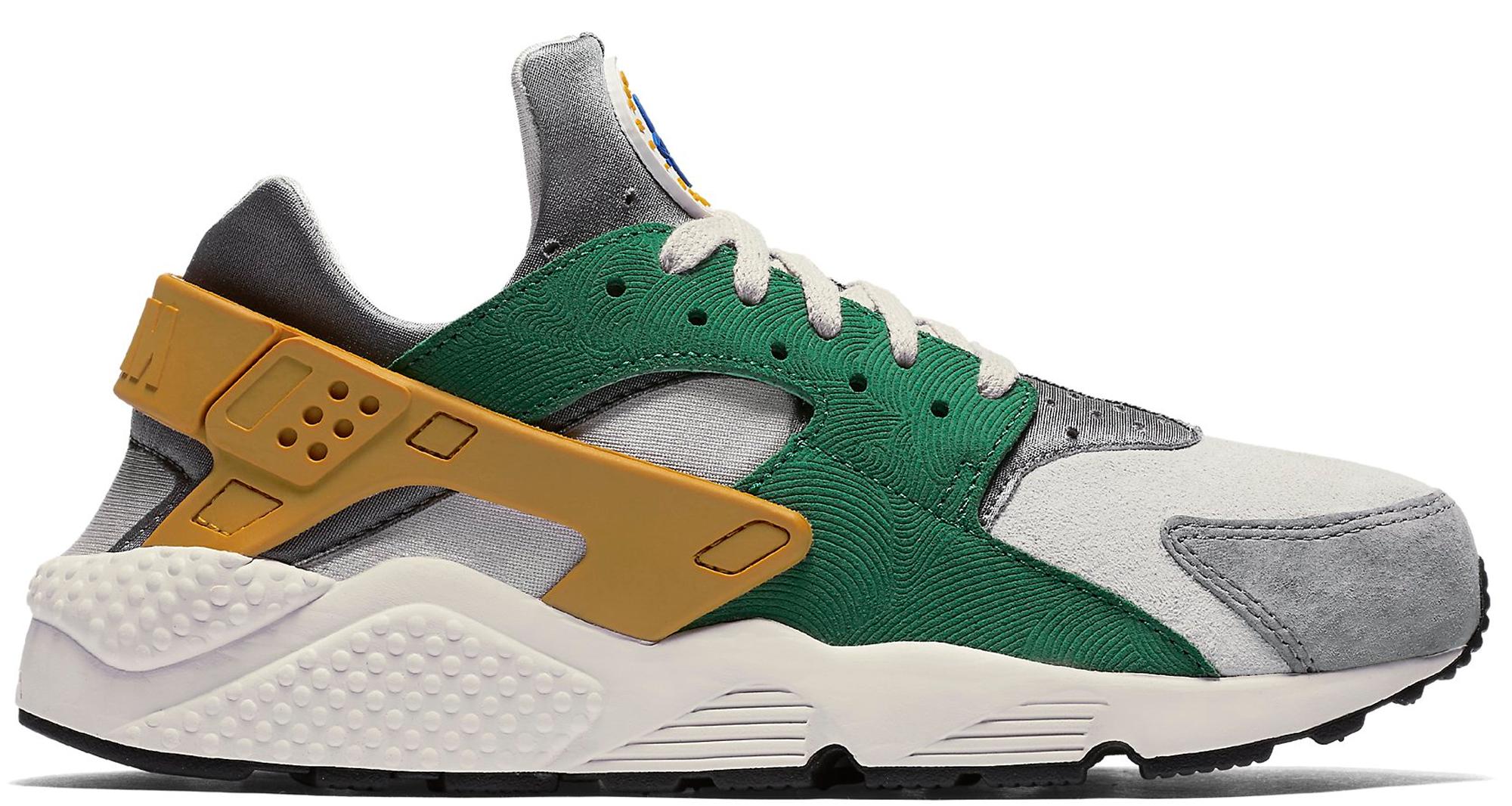 Nike Air Huarache Run Pine Green Gold