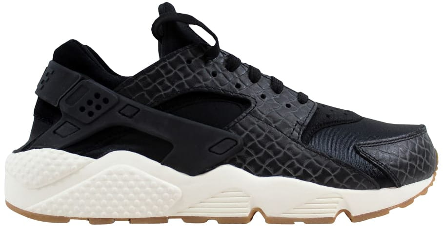 Nike Air Huarache Run Premium Black/Black-Sail-Gum Medium Brown (W)