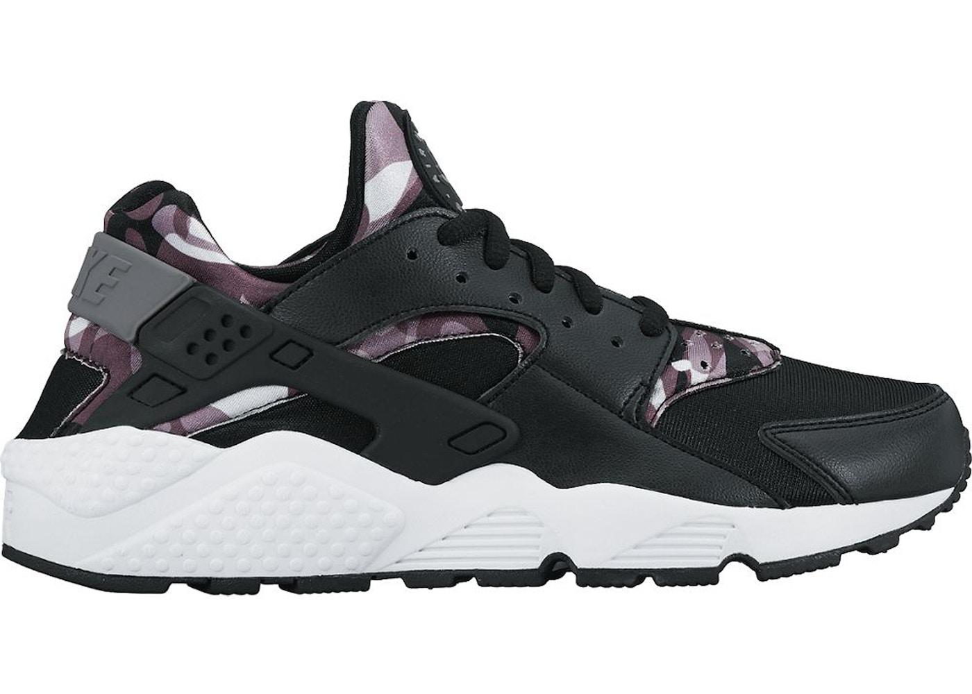 Chirrido Tom Audreath aleatorio  Nike Air Huarache Run Print Camo Black (W) - 725076-003
