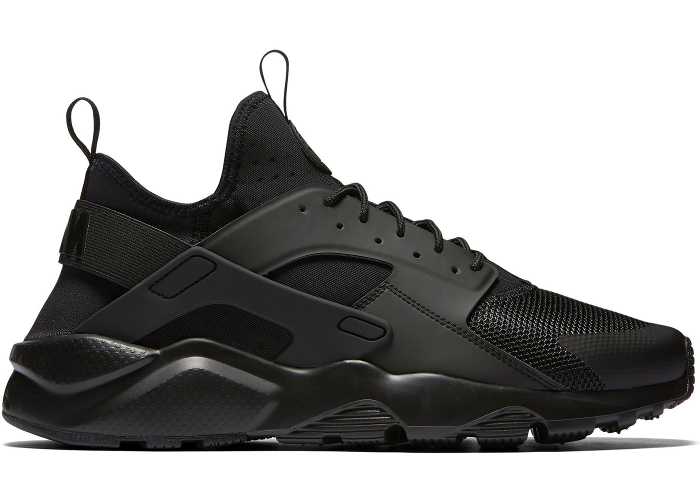 NIKE AIR HUARACHE RUN ULTRA 819685 002 BLACK/BLACK-BLACK DEADSTOCK BRAND NEW